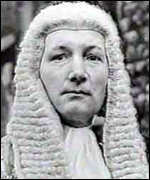 Judge in wig