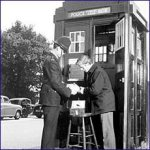 Police officer at police box
