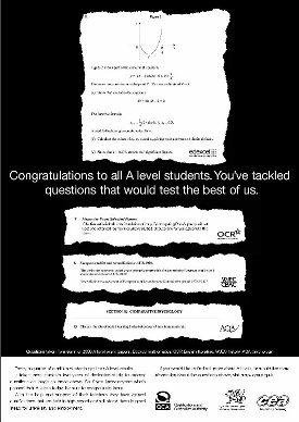 QCA A level advert